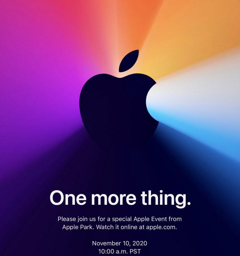 One More Thing… Apple anuncia un evento para el 10 de Noviembre